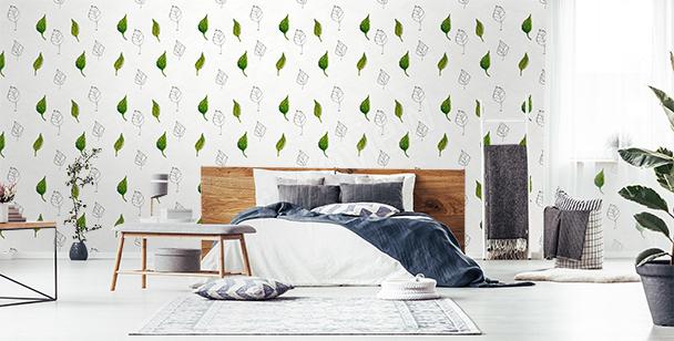 Fototapete Blättermuster