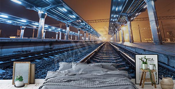 Fototapete Blick auf Bahnsteige