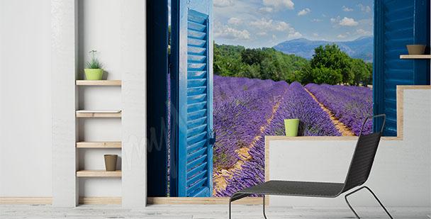 Fototapete Blick auf Lavendelfeld