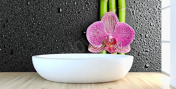 Fototapete Blume und Bambus