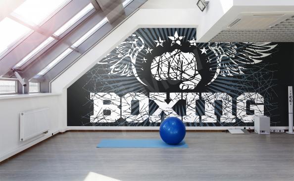 Fototapete Boxen für das Fitnessstudio