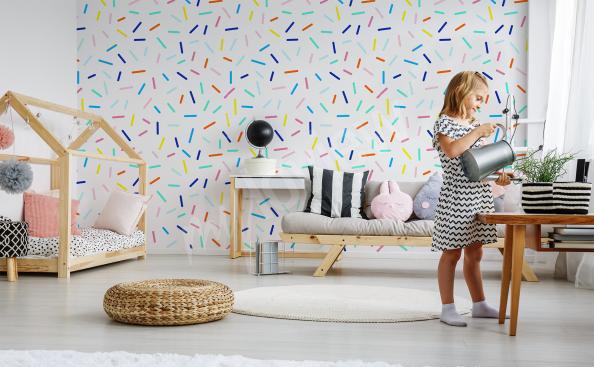 Fototapete bunte Muster für ein Kinderzimmer