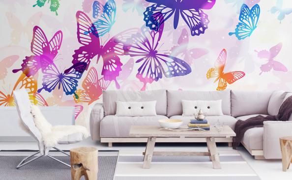 Fototapete bunte Schmetterlinge