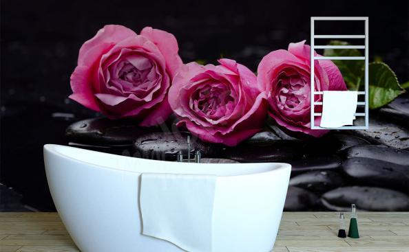 Fototapete drei Rosen