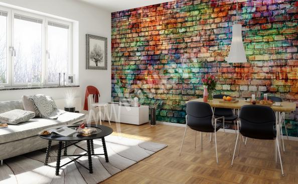 Fototapete farbig Mauer