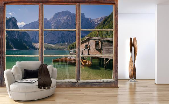Fototapete Fenster 3D