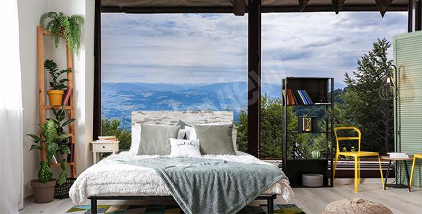Fototapete Fenster 3D fürs Schlafzimmer