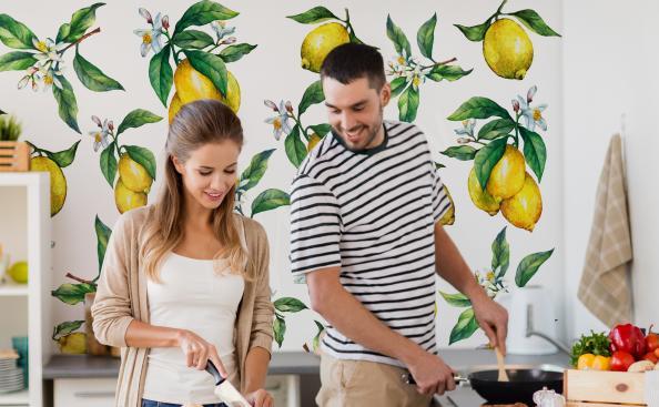 Fototapete Früchte mit einem Zitronenmotiv