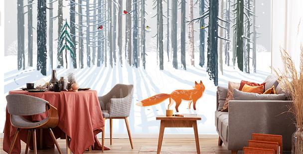 Fototapete Fuchs im Wald