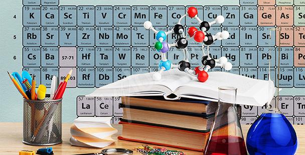 Fototapete für den Chemieklassenraum