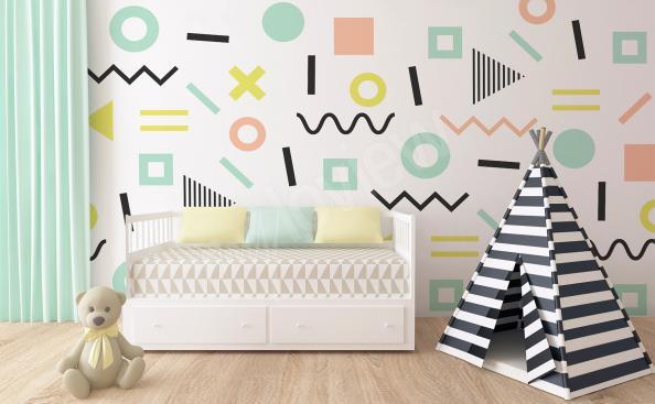 Fototapete für den Kindergarten abstrakte Muster