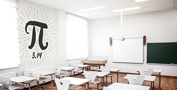 Fototapete für den Matheklassenraum