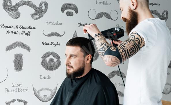 Fototapete für ein Barber Shop