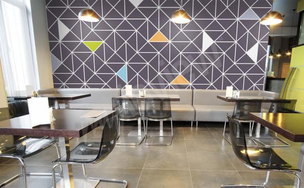 Fototapete für ein Café Geometrie