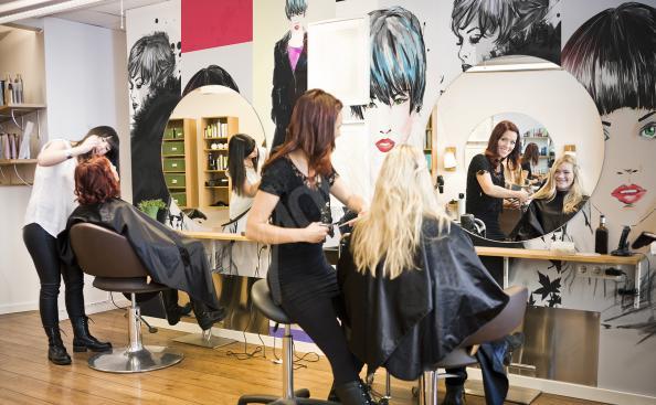 Fototapete für ein Friseursalon Friseuren