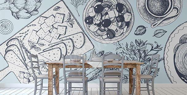 Fototapete für griechisches Restaurant
