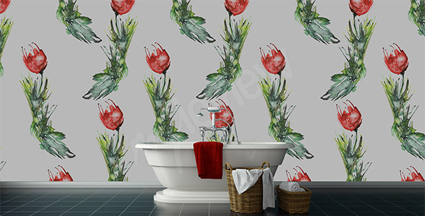 Fototapete fürs Badezimmer Tulpen