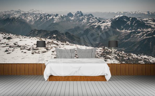 Fototapete fürs Hotel Gebirge 3D