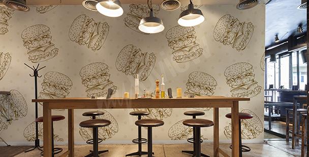 Fototapete fürs Restaurant Hamburger