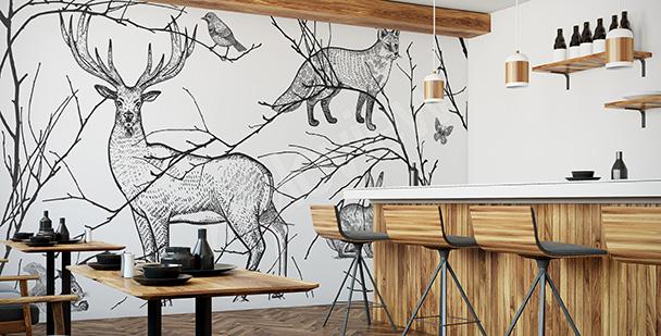 Fototapete fürs Restaurant: Tiere