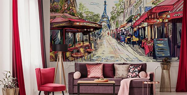 Fototapete Gasse in Paris