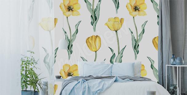 Fototapete gelbe Tulpen
