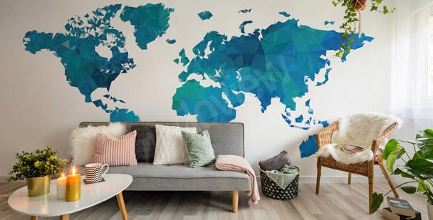 Fototapete Weltkarte für Flur