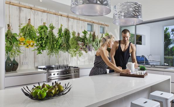 Fototapete Gewürze und Kräuter für die Küche