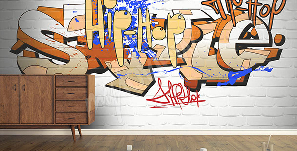 Fototapete Graffiti-Aufschrift