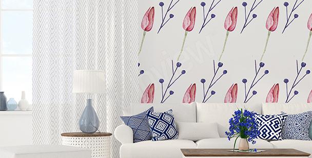 Fototapete grafische Tulpen