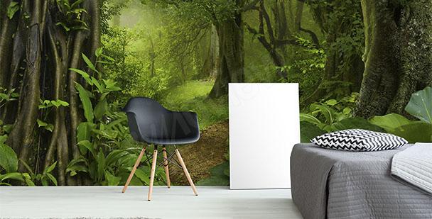 Fototapete Grün fürs Schlafzimmer