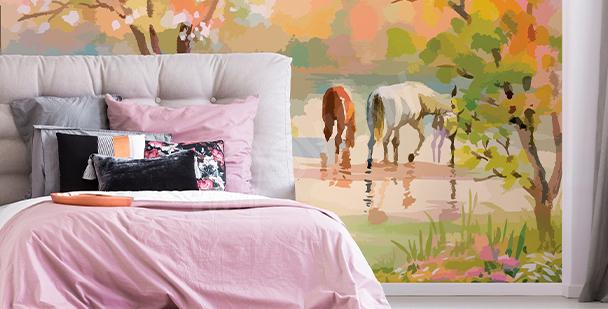 Fototapete Pferd für Wohnzimmer