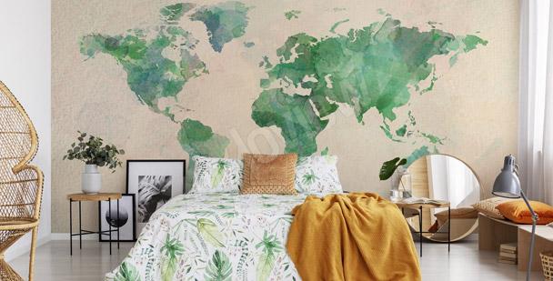 Fototapete grüne Kontinente