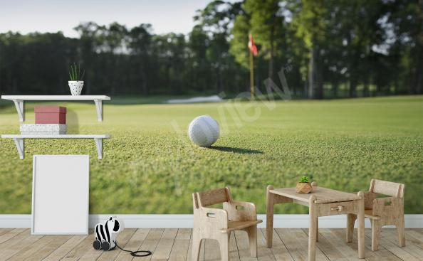 Fototapete grüner Golfplatz