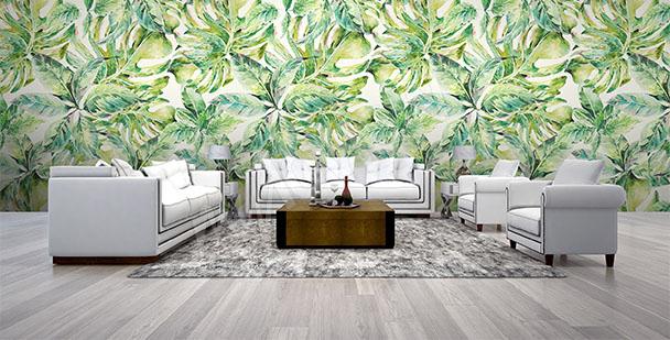 Fototapete grünes Motiv fürs Wohnzimmer