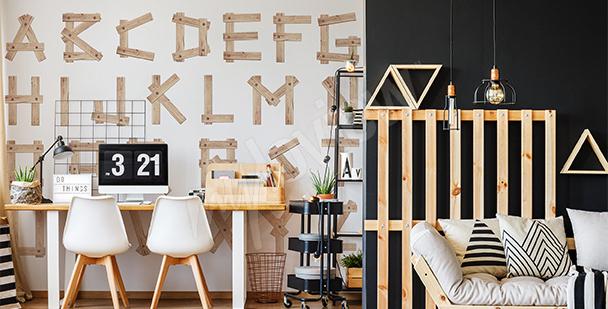 Fototapete Holzbuchstaben