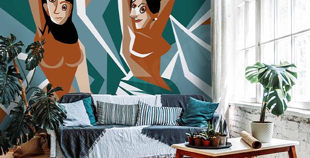 Fototapete im kubistischen Stil