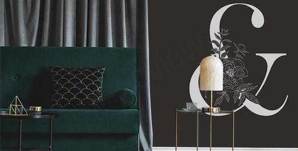 Fototapete im minimalistischen Stil