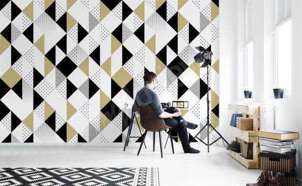 Fototapete in einem geometrischen Muster