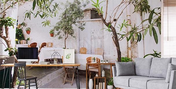 Fototapete italienisches Café