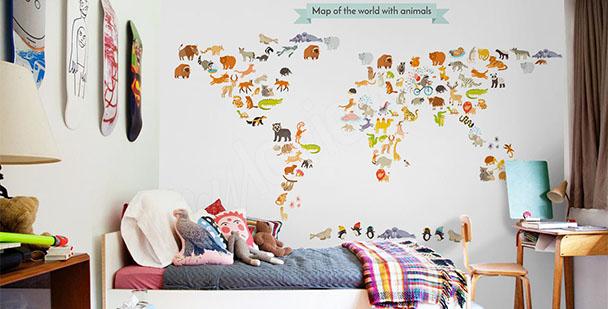 Fototapete Karte für Kinder