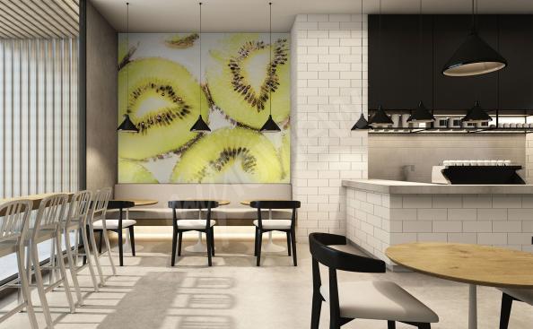 Fototapete Kiwi im Restaurant