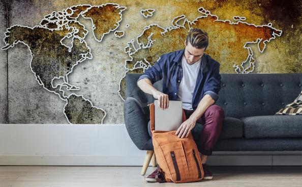 Fototapete Landkarte Retro Kontinente