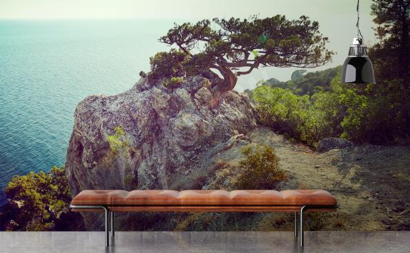 Fototapete Landschaft Baum und Meer
