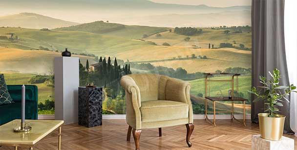 Fototapete Landschaft in der Toskana