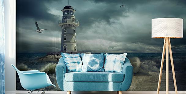 Fototapete Leuchtturm am Meer