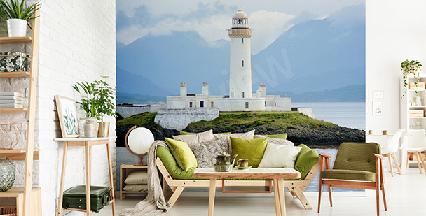 Fototapete Leuchtturm in Schottland