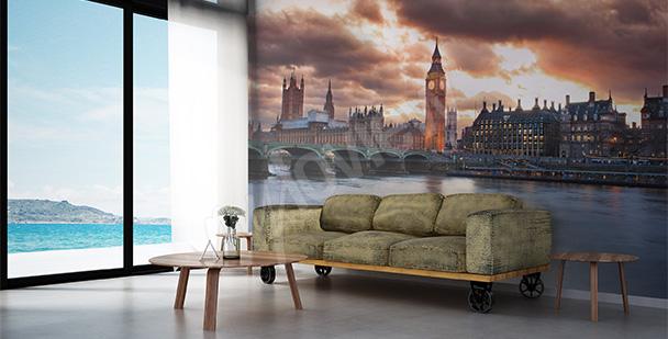 Fototapete London fürs Wohnzimmer