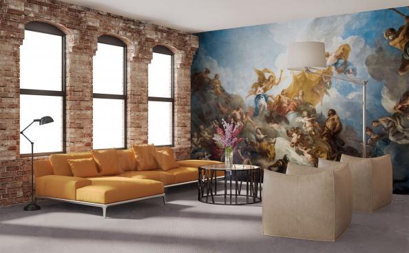 Fototapete Malerei im Wohnzimmer