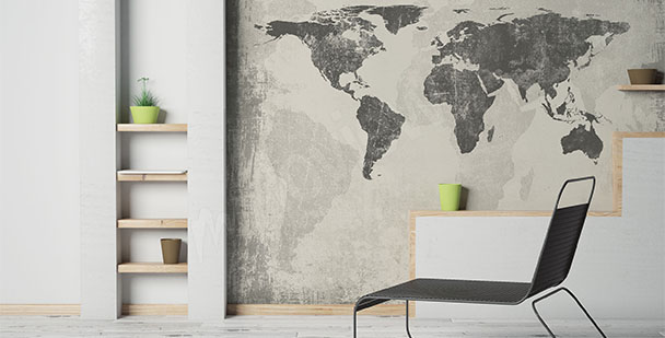 Fototapete minimalistische Karte